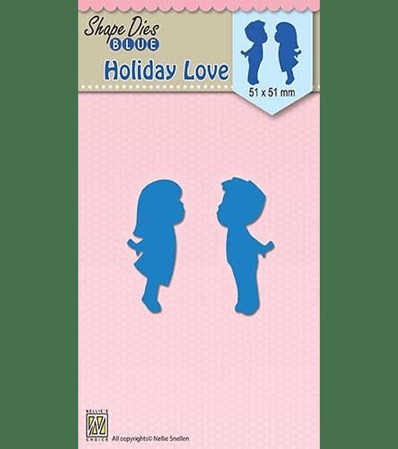 Shape Dies Blue Holiday Love