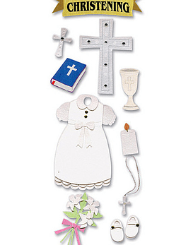 Jolees Christening Stickers