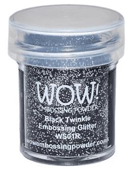 Wow polvos de embossing Black Twinkle