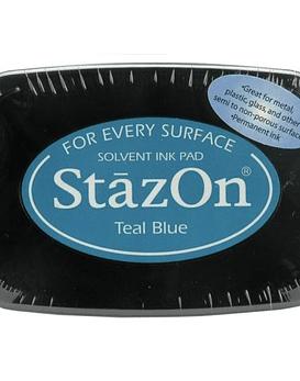 StazOn tinta Teal Blue