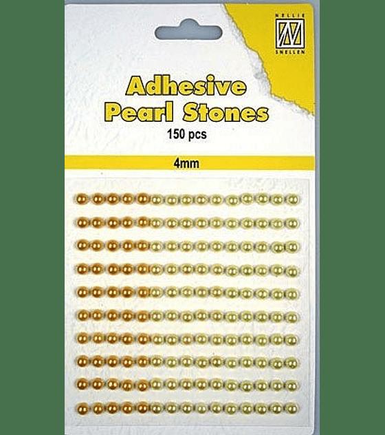 Medias Perlas adhesivas tonos amarillos