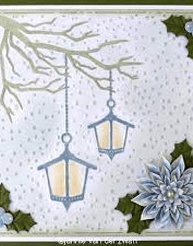 Snowy Scene with Lanterns