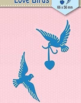 Shape Dies Blue Love Birds