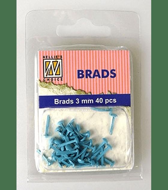 Floral Brads Blue