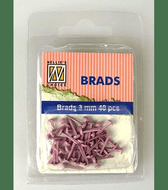 Floral Brads Pink