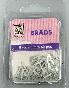 Floral Brads Grey
