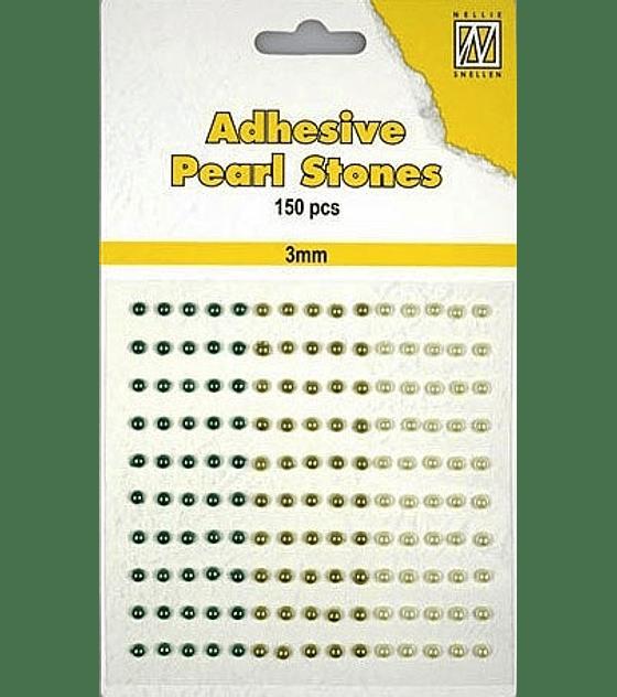Medias Perlas adhesivas tonos verde