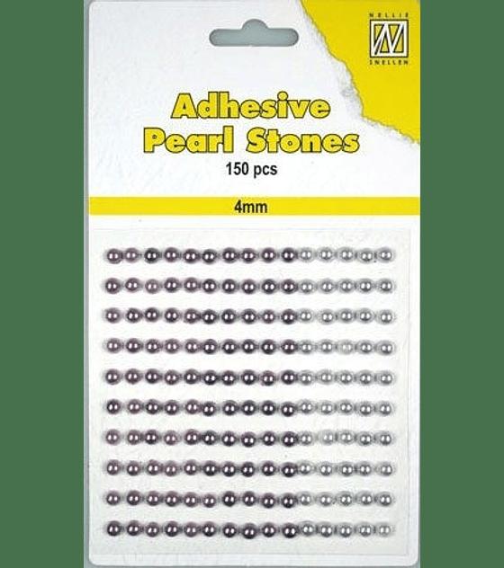 Medias Perlas adhesivas tonos lila