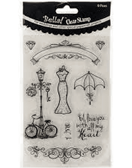 Bella Clear Wedding Stamp