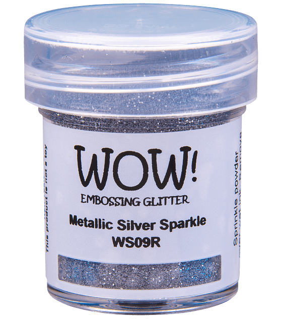 Wow! Embossing Powder Metallic Silver Sparkle