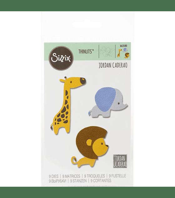 Sizzix Thinlits Baby Jungle Animals