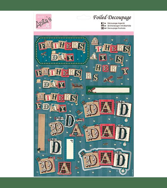 Foil Decoupage Sheet Daddy