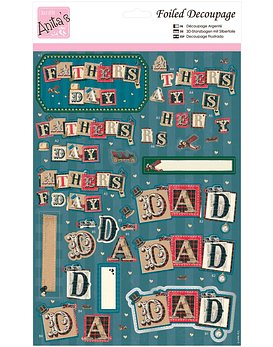 Foil Decoupage Sheet Daddy