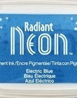 Almohadilla de tinta Neon color azul electrico