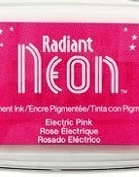 Almohadilla de tinta Neon color rosado electrico