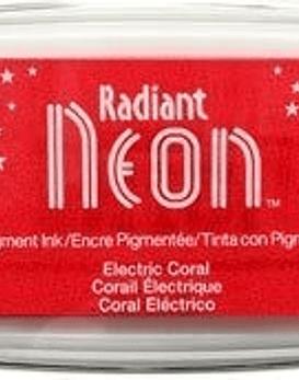 Almohadilla de tinta Neon color coral electrico