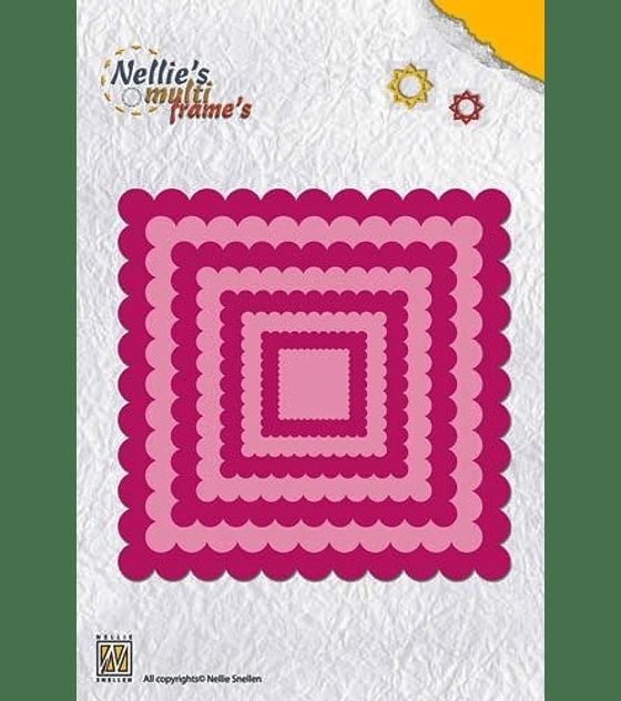 Nellie's Multi Frame Die Wavy Square
