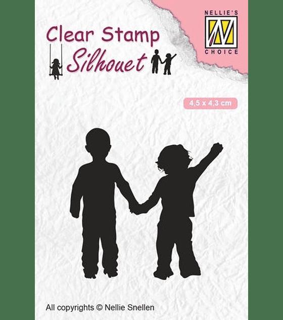 Nellie's Clear Stamp Close Friendship