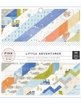 Pink Paisey Little Adventurer Boy 15x15 36hojas