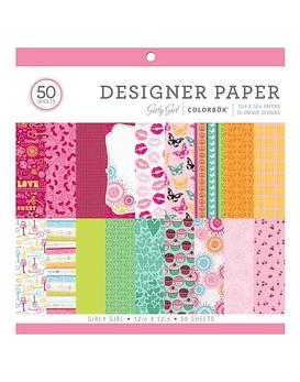 Girly Girl Designer Paper 30x30 50 hojas