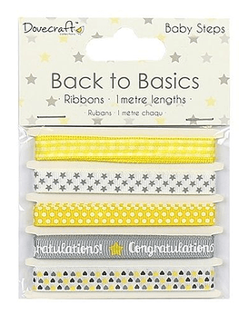 Back to Basics Cintas tonos amarillo/gris