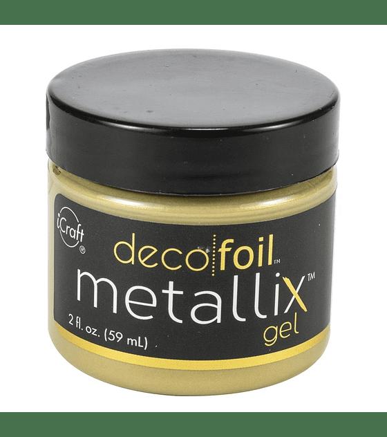 Deco Foil Metallix Gel color dorado