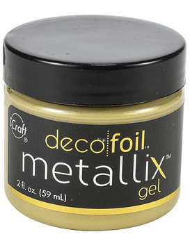 Deco Foil Metallix Gel color dorado