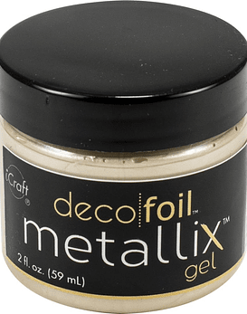 Deco Foil Metallix Gel color white pearl