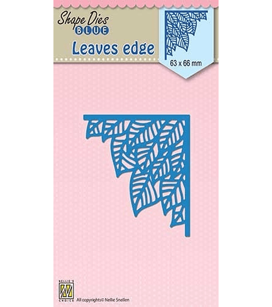 Shape Dies Blue Leaves Edge