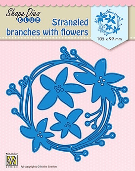Shape Dies Blue Strangled Branches with Flowers