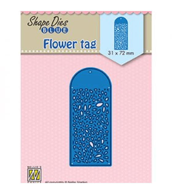 Shape Dies Blue Flower Tag