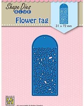 Shape Dies Blue Flower Tag