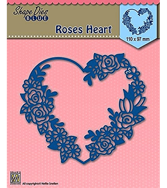 Shape Dies Blue Roses Heart