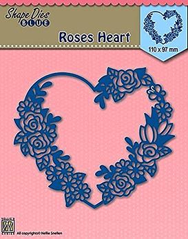 Shape Dies Blue Roses Heart