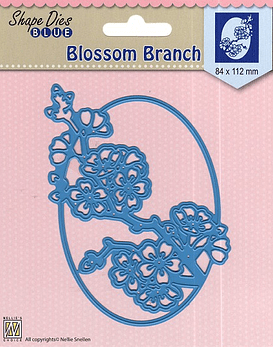 Shape Dies Blue Blossom Branch