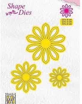 Shape Dies 3 x flower-5