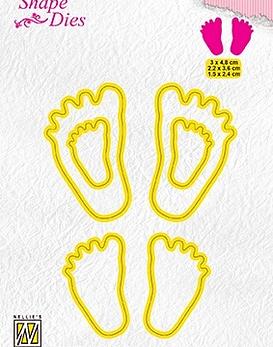 Shape Dies Baby Feet