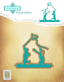 Vintasia Children With Kite