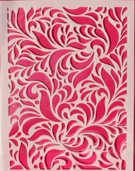 Stencil  A5 Swirls