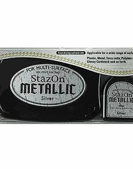 StaZon Inkpad Set plateado metalico