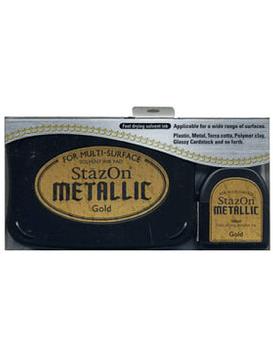 StaZon Inkpad Set Doroado Metallico