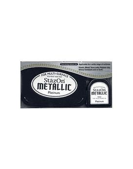 StaZon Inkpad Set Platinum metalico