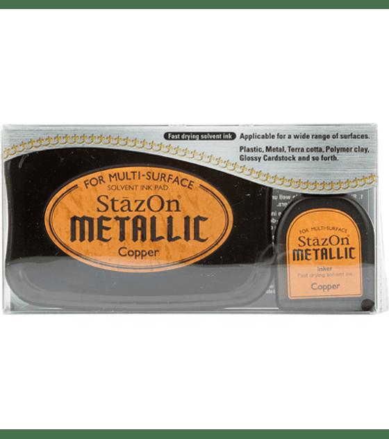 StaZon Inkpad Set Copper metalico