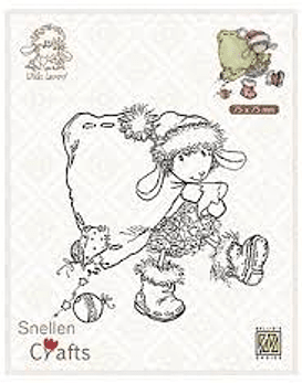 Nellie's CLear Stamps Santa Lammy