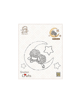 Nellie's CLear Stamps Lammy in Dreamland