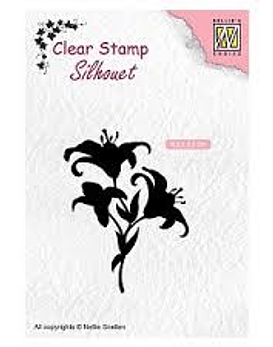 Nellie's CLear Stamps Lilies