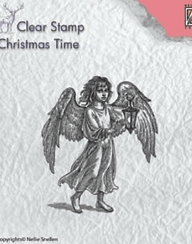 Nellie's CLear Stamps Angel with Lantern