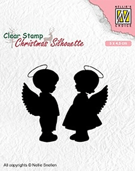 Nellie's CLear Stamps Angel girl and Boy
