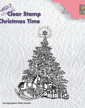 Nellie's CLear Stamps Christmas Tree with Gifts