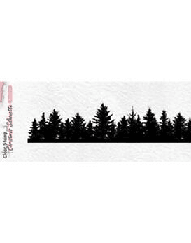 Nellie's Clear Stamps Pinetree Boarder